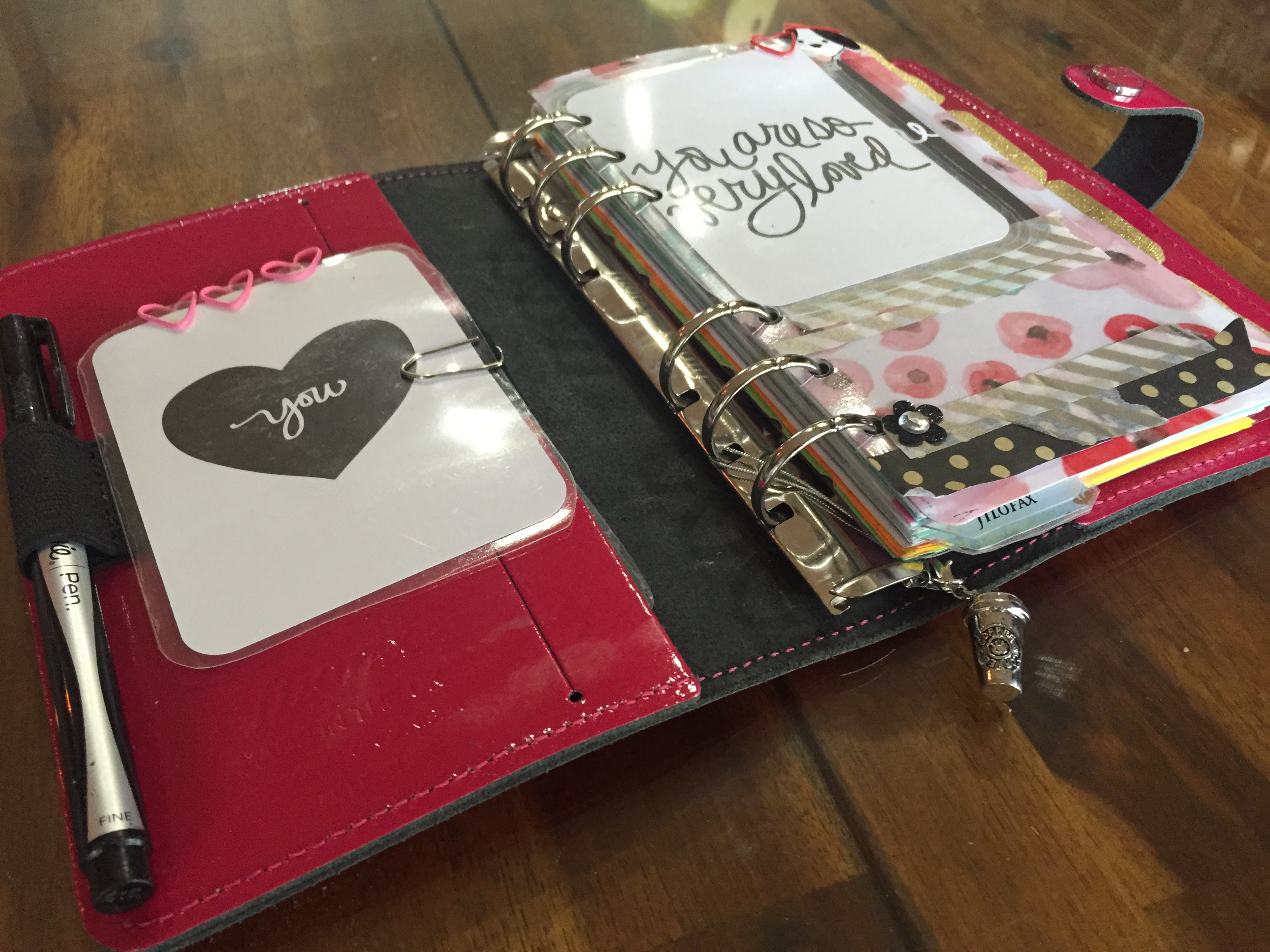 This is how I have decorated the inside of my personal Filofax so far.