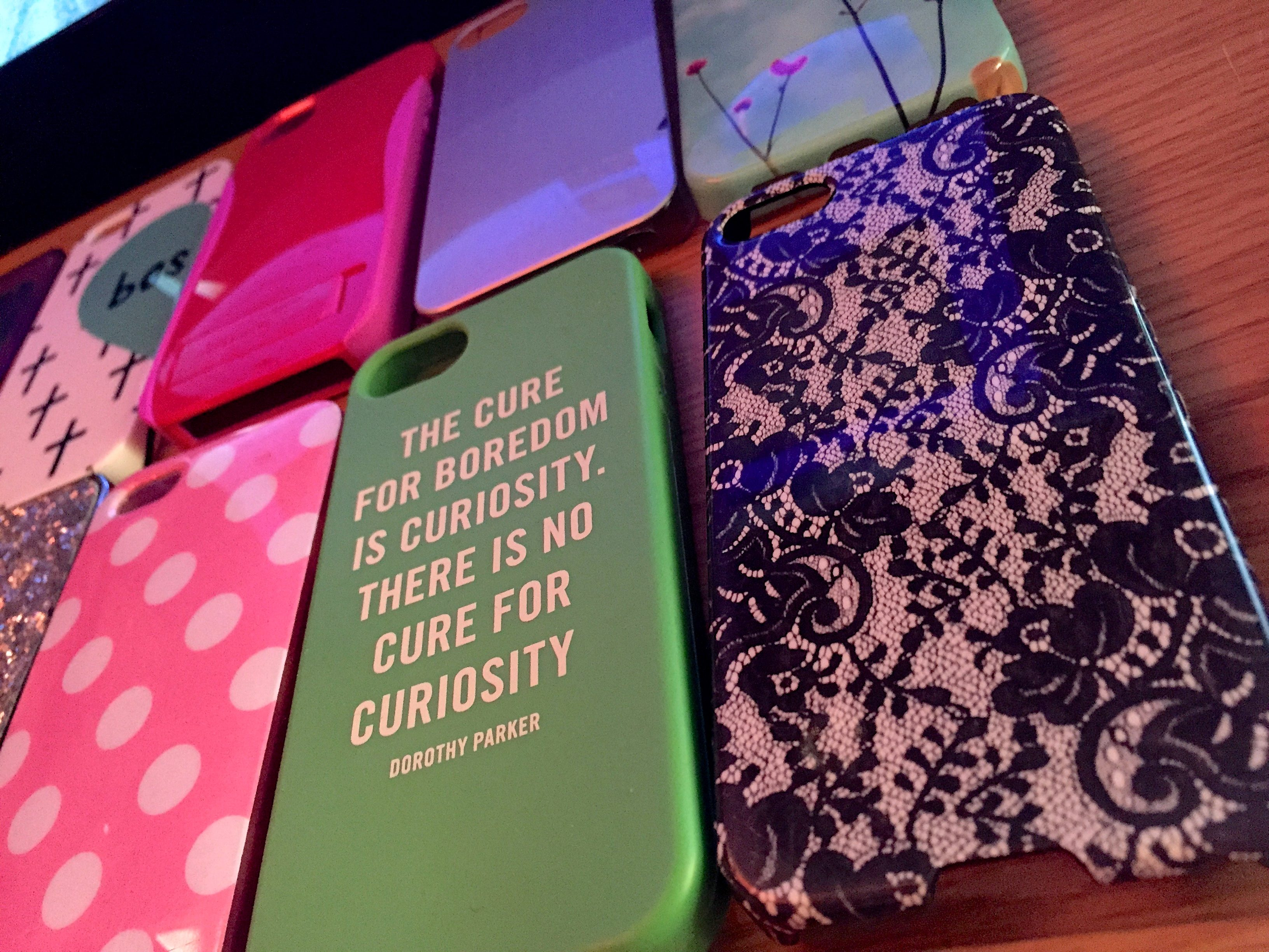 artistic photo of phone cases